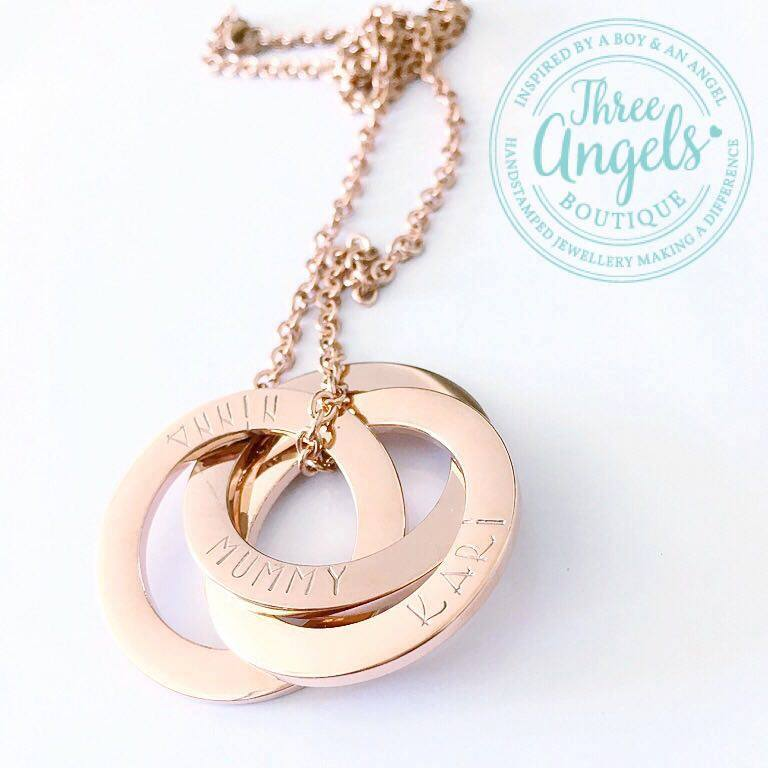 61efbac0a82ee Personalised Names - Russian Rings Necklace