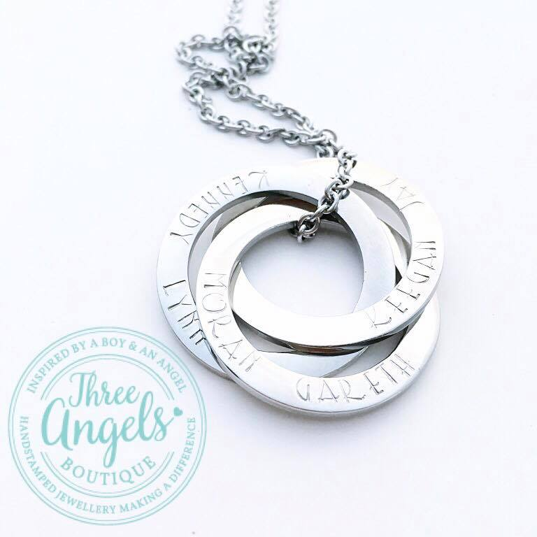 1a0df002d Personalised Name Russian Rings Necklace - Fast Delivery ...