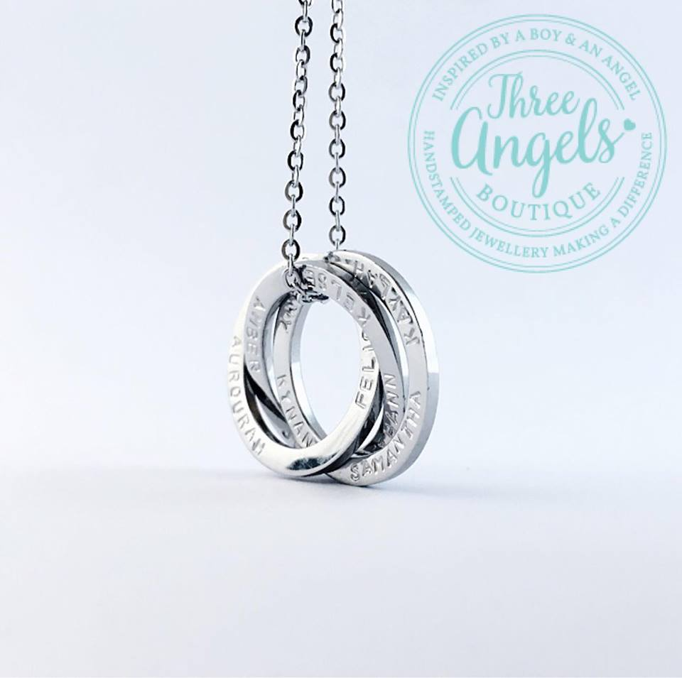2190c6173d250 Custom Names - 25mm Russian Rings Necklace